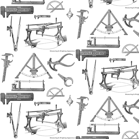 Tools of Yore fabric by relative_of_otis on Spoonflower - custom fabric