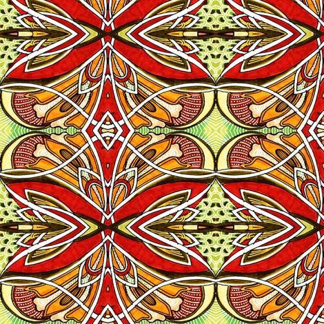Fairy Wings (orange) fabric by edsel2084 on Spoonflower - custom fabric