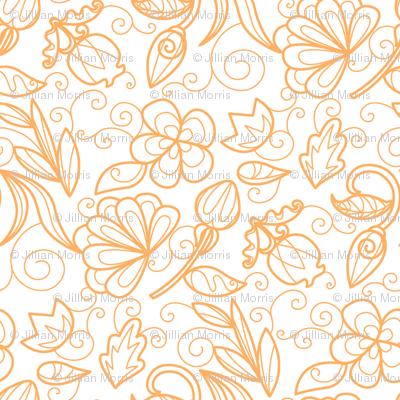 Dewdrop Floral Tangerine