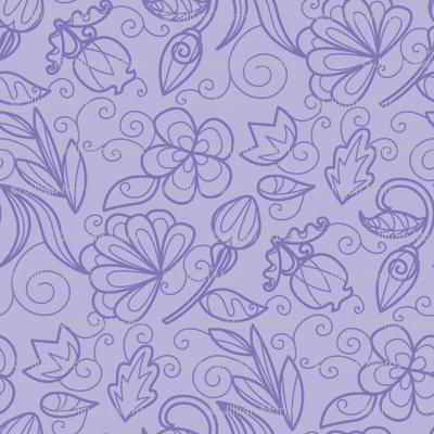 Dewdrop Floral Violet