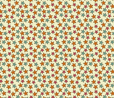 Star flowers fabric by suziedesign on Spoonflower - custom fabric