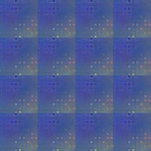 Blue Multi Techie Plaid © Gingezel™ 2011