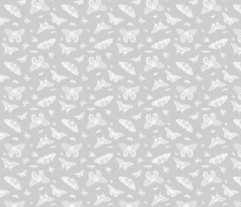 Gray Vintage Butterflies fabric by sweetzoeshop on Spoonflower - custom fabric