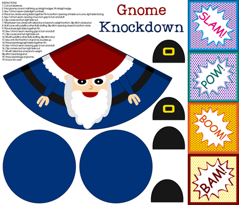 Gnome Knockdown fabric by amywtsn on Spoonflower - custom fabric