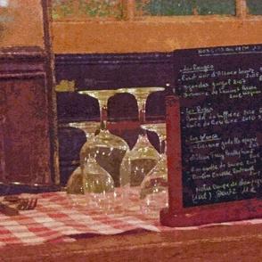 Wine List at Parisienne Restaurant