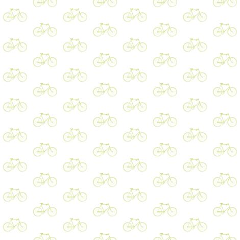 Celery Vintage Bicycle fabric by sweetzoeshop on Spoonflower - custom fabric