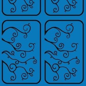 Swirl Tiles in Blue