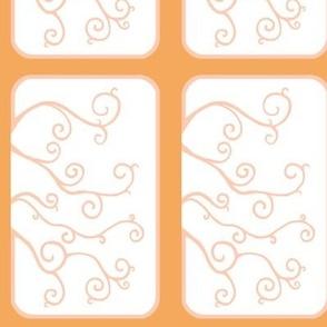Swirl Tiles in Orange and Peach