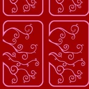 Swirl Tiles in Pink and Red