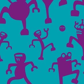 Prancing Purple Robots