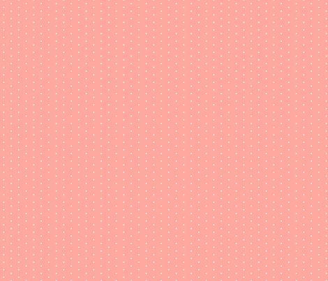 Coral Tiny Dot fabric by sweetzoeshop on Spoonflower - custom fabric
