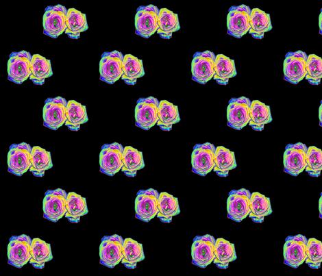 """Foil"" Roses on Black fabric by artist4god on Spoonflower - custom fabric"