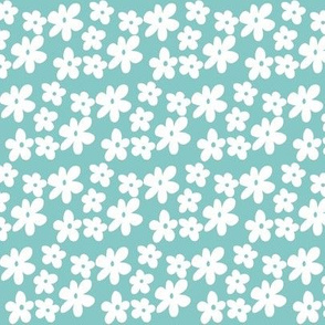 Soft Blue Daisy Flowers