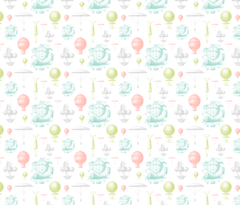 Vintage Balloons fabric by sweetzoeshop on Spoonflower - custom fabric