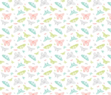 Vintage Butterflies fabric by sweetzoeshop on Spoonflower - custom fabric