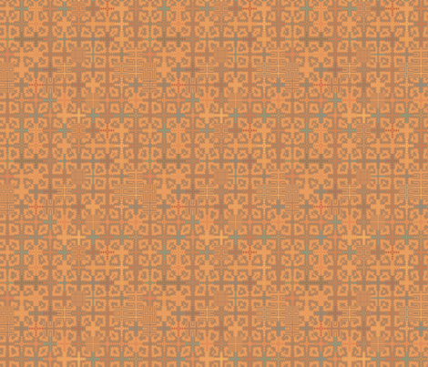 Summer Heat Tapestry Style Geometric  fabric by gingezel on Spoonflower - custom fabric