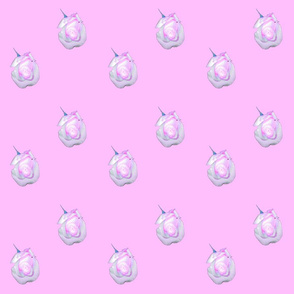 White and Pink Rosebud On Pink background