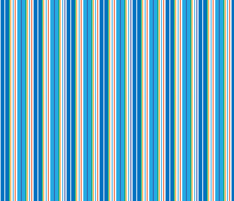 STRIPES- BLUE/ORANGE fabric by gsonge on Spoonflower - custom fabric