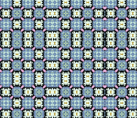 Mixed flowers kaleidoscope #1 fabric by artist4god on Spoonflower - custom fabric