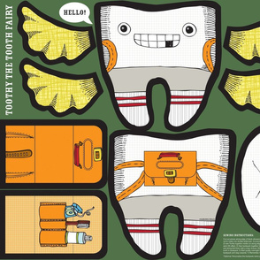 Toothy the Tooth Fairy (Cut n' Sew Plushie)