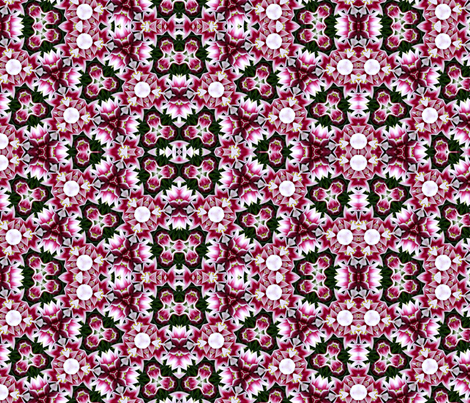 Mixed flowers kaleidoscope #2 fabric by artist4god on Spoonflower - custom fabric