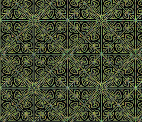 ©2011 Cutwork - Jewels fabric by glimmericks on Spoonflower - custom fabric