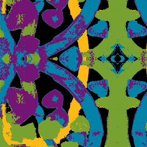 Z Circles (-on black-) fabric by relative_of_otis on Spoonflower - custom fabric