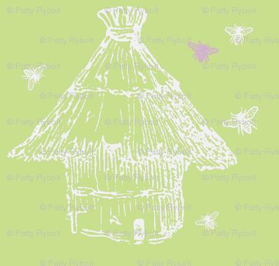 Buzzz (lime, white & lilac)