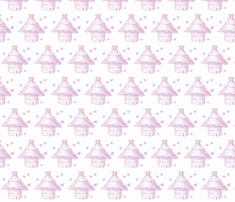 buzzz (little lilac) fabric by pattyryboltdesigns on Spoonflower - custom fabric