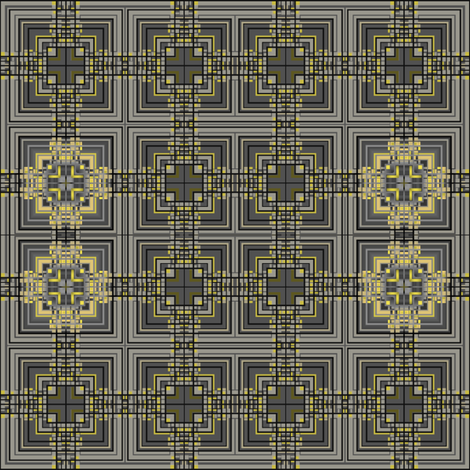 Black Yellow and Grey Art Deco © 2011 Gingezel™ Inc. fabric by gingezel on Spoonflower - custom fabric
