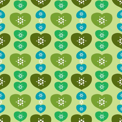 heartfarm-green fabric by lilliblomma on Spoonflower - custom fabric