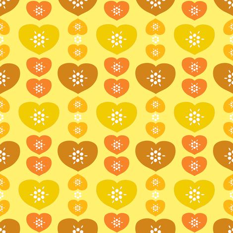 heartfarm-yellow fabric by lilliblomma on Spoonflower - custom fabric