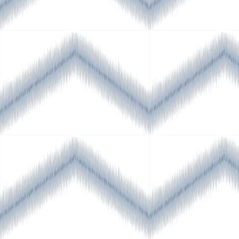Ikat Zig Zag / Blue Grey fabric by mjdesigns on Spoonflower - custom fabric
