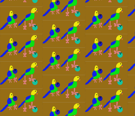 Budgies Bowling fabric by heartfullofbirds on Spoonflower - custom fabric
