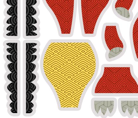 Dragon Plushie fabric by garmonsway_designs on Spoonflower - custom fabric