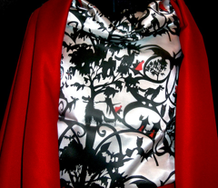Little Red Riding Hood Cape Lining - Vertical