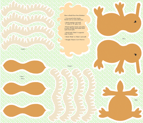 Build Your Own Echidna fabric by drizzlydaydesignco on Spoonflower - custom fabric