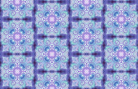 Nautilus Dance Mandala 1 fabric by dovetail_designs on Spoonflower - custom fabric