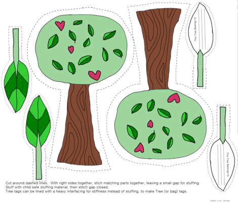 Tree Hugger FQ kit fabric by wiccked on Spoonflower - custom fabric