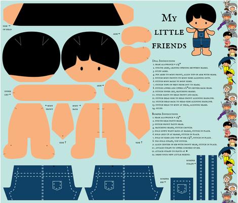 My Little Friends - Dress Up Doll fabric by jmckinniss on Spoonflower - custom fabric