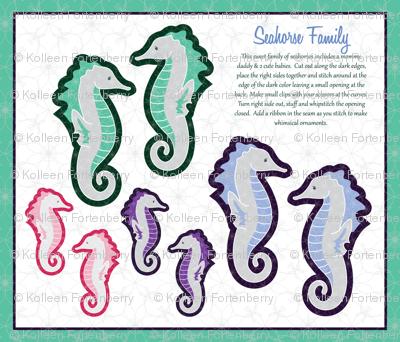 Sweet Seahorse Family