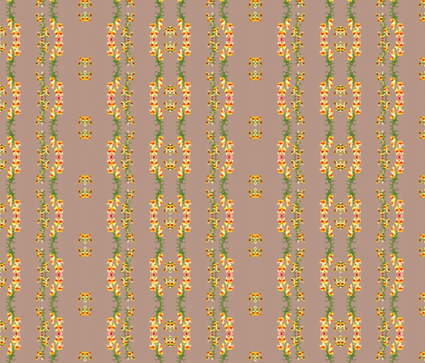 Color Block Snapdragons  fabric by robin_rice on Spoonflower - custom fabric