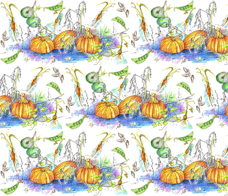 Vegetable Harvest fabric by countrygarden on Spoonflower - custom fabric