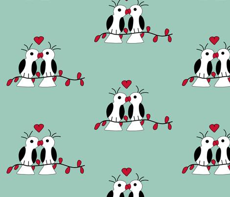 Love_birds fabric by alexsan on Spoonflower - custom fabric