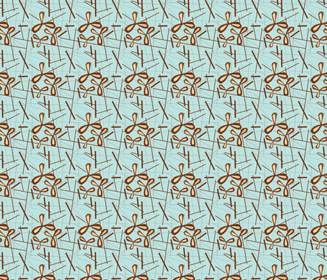 Coffee Flowers fabric by gsonge on Spoonflower - custom fabric
