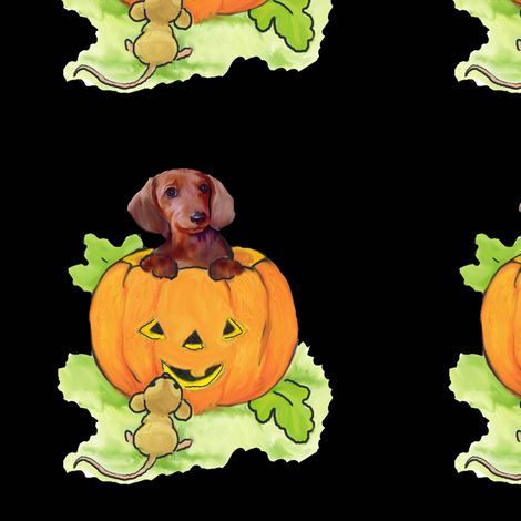 halloween_dachshund_fabric fabric by dogdaze_ on Spoonflower - custom fabric
