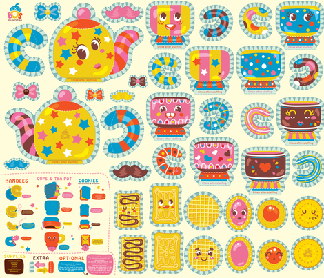 Tea Party Plush fabric by irrimiri on Spoonflower - custom fabric