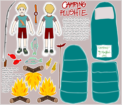 Camping makes me siiing fabric by mrshervi on Spoonflower - custom fabric