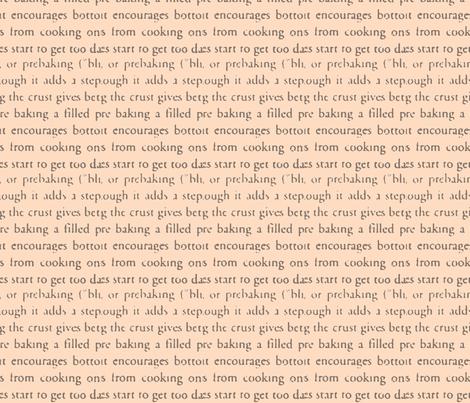 Pie Text fabric by relative_of_otis on Spoonflower - custom fabric