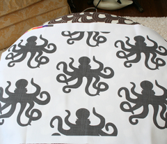 Octopus Linen in Sandstone